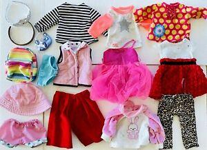"Big Lot Of Doll Clothes For 18"" Doll Fits American Girl, Battat, OG & More"