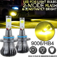 2x 9006 Amber Yellow Flash LED Fog Light Bulb for Dodge RAM 1500 2500 3500 13-17
