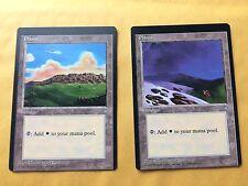 2 Miscut Ice Age Plains Misprint MTG Magic Cards EDH Legacy