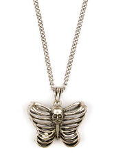 Necklace Collier Anatomical Human Rib Skull Butterfly Squelette Gothic Gothique