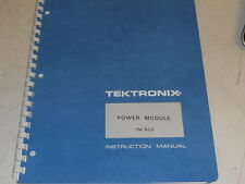 Tektronix Instruction Manual For Tm 503 Power Module