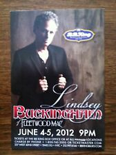 Lindsey Buckingham of Fleetwood Mac  ad/flyer  nyc BB.Kings concert