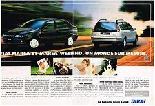 PUBLICITE  1997  FIAT  MAREA & MAREA WEEK END ( 2 pages)