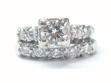 Platinum Round Cut Diamond Engagement Wedding Set 1.10CT