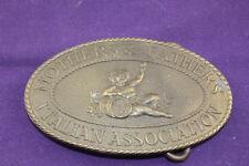 Vintage Brass Belt Buckle  Mother & Father Italian Association