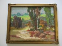 ANTIQUE 1910'S EARLY CALIFORNIA PLEIN AIR LANDSCAPE PAINTING SMALL GEM OLD