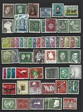 Germany - West Germany.  Collection of 66 stamps, 1949 to 1956, Used
