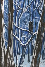 LE #1 4X6 POSTCARD RYTA WINTER REALISM LANDSCAPE RAVEN CROW EVENING SURREAL ART
