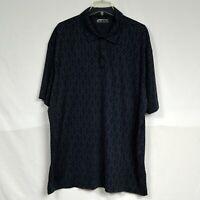 Nike Golf Standard Fit Dri Men's Polo Shirt Size 2XL XXL Blue & White