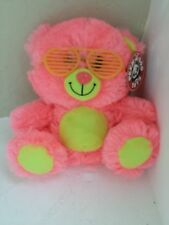 "Peek A Boo Toys Shutter the Neon Teddy Bear Sunglasses Stuffed/Plush 7.5"" NWT"