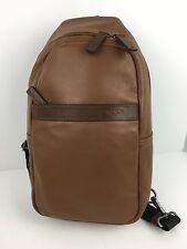 TUMI 069718UMO Berkshire Sling Carry All Unisex Leather Saddle NWT