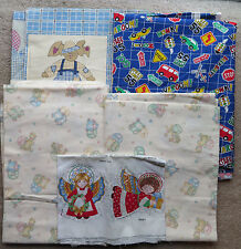 Childrens Fabric lot Christmas Angels Princess Fabric 216 Cars Zoo Animals MORE