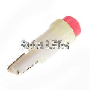 1 Pink COB LED T5 Wedge 12v Interior LED Bulb