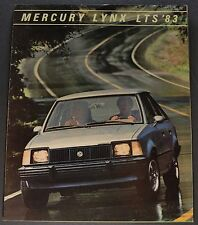 1983 Mercury Lynx LTS Sales Brochure Folder Excellent Original 83
