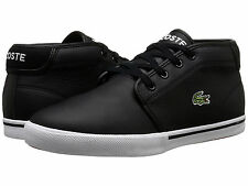Lacoste Ampthill Lcr3 SPM Mens Black Leather Lace up Casual SNEAKERS Shoes 10