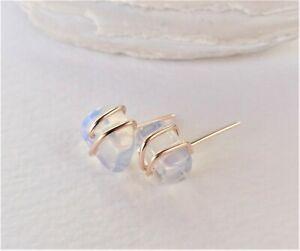 Stud Earrings Wrapped Opalite