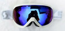 $120 Scott Notice OTG Over The Glasses White Ski Goggles Illuminator Blue Womens