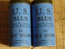 Original  WW2 US Army MOUNTAIN SKI TROOP Blue Dry-Snow Ski Wax Tubes-Pair
