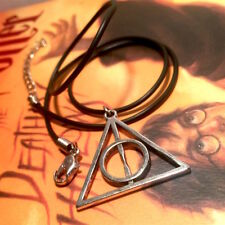 Harry Potter / Fantastic Beasts - Deathly Hallows Rope Pendant Necklace - NEW