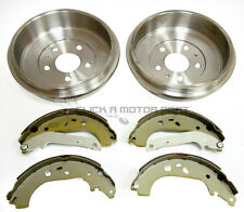 FORD FOCUS MK2 1.4 1.6 1.8 TDCi REAR BRAKE DRUMS & SET OF BRAKE SHOES 2005-2010