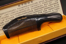Sunflower Real Nature OX Horn Comb Fine Hair Handmade Comb Large Comb 19-20cm