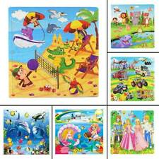 Kids Kindergarten Wooden Jigsaw Puzzle 100 PCS Cartoon Learning Educational Toy