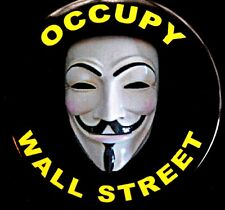OCCUPY WALL STREET 2014 - ORIGINAL BUTTON SCARCE PINBACK RARE