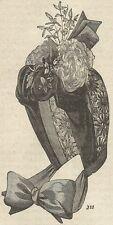 A4452 Cappello-cappotta moderno da donna - Incisione - Stampa Antica del 1887