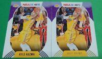 2021 Kyle Kuzma Lot Of 2 Nba Hoops Purple Parallel & Base #23 Lakers