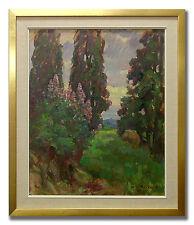 E BEZICZKY / LANDSCAPE - Original Art Oil Painting