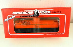 AMERICAN FLYER/Lionel S Scale #6-48405 Shell Tank Car 8681 Orange ~NIB~  T140
