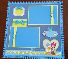 "Disney Minnie Mouse & Daisy Duck Scrapbook Page 12""x12"" Layout ""Best Friends"""