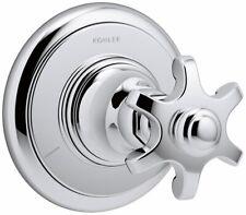 KOHLER T72770-3M-CP Artifacts Transfer valve trim with prong handle, Less Valve,