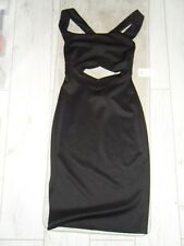 Ladies BNWT ASOS Black Strappy Midi Dress Size 12