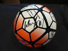 MANCHESTER UNITED SIGNED SOCCER BALL BY TEAM COA + PROOF! WAYNE ROONEY + 16