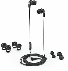 JLab JBuds Pro Signature Wired Sweatproof Secure Fit Earbuds w/Mic- Black (NEW)