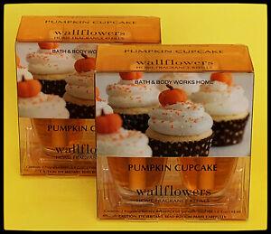 Bath & Body Works PUMPKIN CUPCAKE Wallflowers 2 Refill PACK Total 4 bulbs NEW