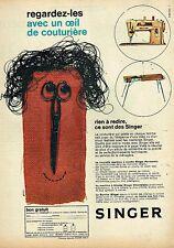 H- Publicité Advertising 1961 Machine à coudre et à tricoter Singer par Fortin