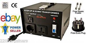 Simran AC-1500W 110V 220V International Power Source Step Up Down Transformer