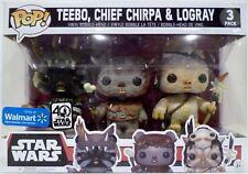 TEEBO CHIEF CHIRPA & LOGRAY Star Wars Pop Vinyl Bobble Head Figures Walmart 2017