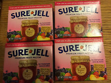 Sure Jell  Premium Fruit Pectin Less Sugar 1.75 oz Per Box Lot of 4 Exp 2022