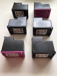 5 X Used *EMPTY* Genuine HP 302 Ink Original Cartridges Plus 1 X Refurbished