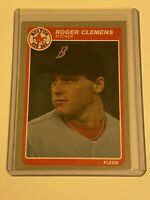 🔥 1985 FLEER Baseball Card Set #155🔥 BOSTON RED SOX - ROGER CLEMENS ROOKIE RC