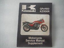 kawasaki kz1100r  kz 1100r  gpz1100  genuine original service  manual supplement