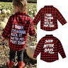 Fashion Toddler Kid Baby Boy Girl Printed Plaid Blouse T-shirt Tops Clothes