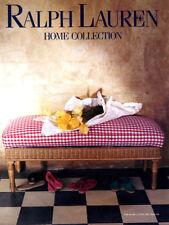 1993 Ralph Lauren Home collection ottoman gingham MAGAZINE AD