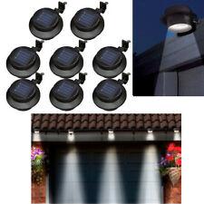 4 X Negro Energía Solar para Jardín aire libre valla Pared Sensor De Movimiento LED Luz de alcantarilla