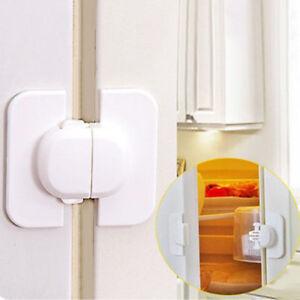 2Pcs Baby Kids Prevent Clamping Safety Door Lock Proof Cupboard Fridge Cabinet