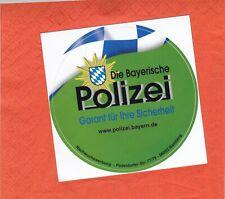 Bayern - Polizei - Garant für Sicherheit - Werbeaufkleber
