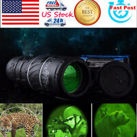 Day& Night Vision 40x60 HD Optical Monocular Hunting Camping Zoomable Telescope